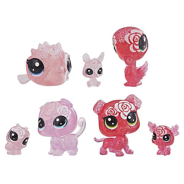 Hasbro Набор фигурок Littlest Pet Shop Цветочные петы Роза, 7 шт набор цветных карандашей 6 шт littlest pet shop littlest pet shop 6 шт