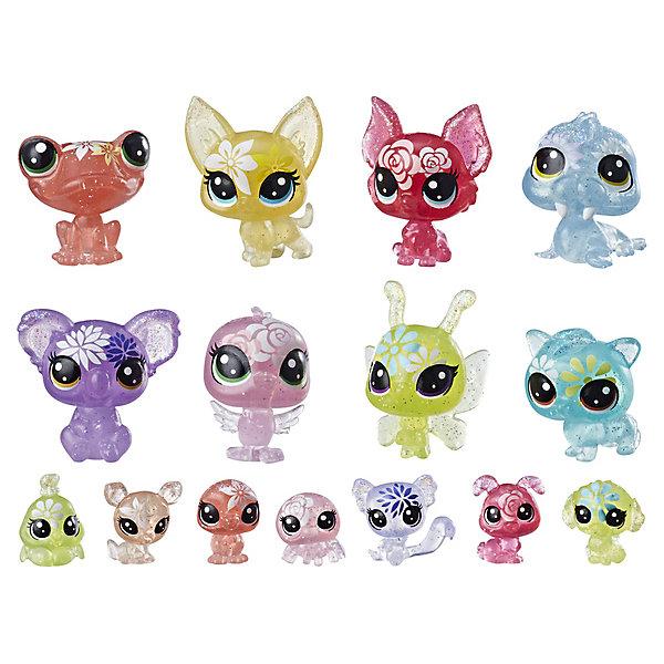 Hasbro Набор фигурок Littlest Pet Shop Цветочные петы Букетный набор, 15 шт hasbro littlest pet shop c0795 литлс пет шоп радужная коллекция 7 радужных петов