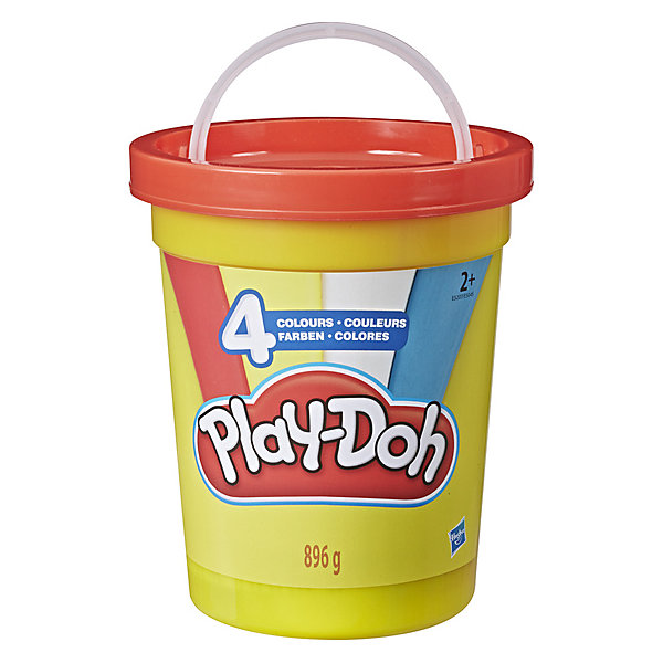 """Hasbro Набор пластилина Play-Doh """"Большая банка"""" Классические цвета, 4 шт"""