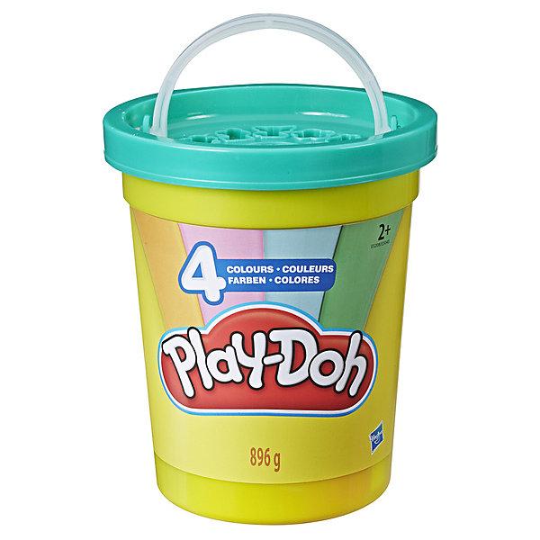 """Hasbro Набор пластилина Play-Doh """"Большая банка"""" Современные цвета, 4 шт"""