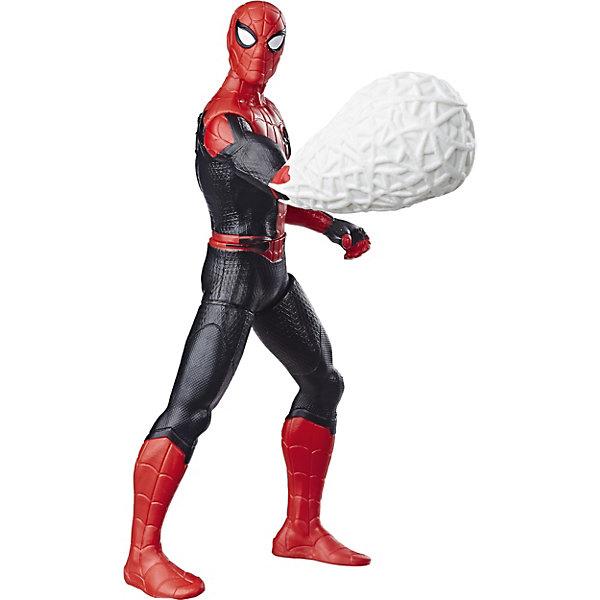 Фото - Hasbro Игровая фигурка Spider-Man Делюкс Возвращение домой Человек-Паук с паутиной, 15 см hasbro игровая фигурка spider man хобгоблин сакс