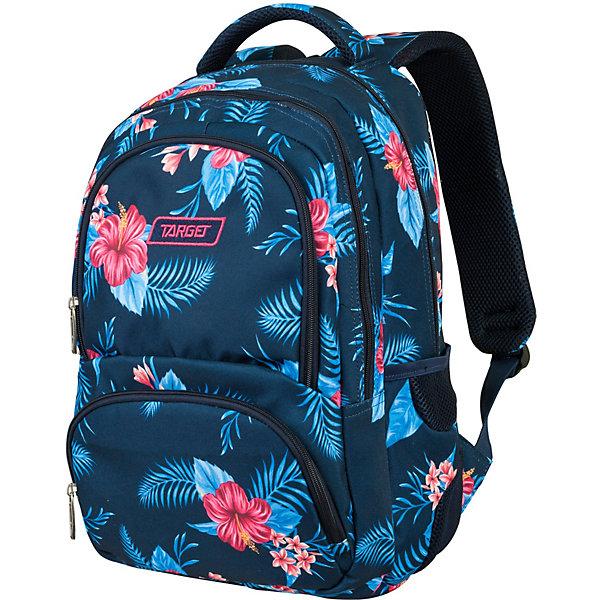 Рюкзак Target Collection Bravo Floral, синийРюкзаки<br>Характеристики:<br><br>• тип товара: рюкзак<br>• материал: текстиль, металл<br>• размер: 44х32х18 см<br>• объем: 26 л<br>• 3 больших отделения на молнии, 1 накладной карман на молнии, 2 боковых кармана на резинке<br>• регулировка лямок<br>• страна бренда: Словения<br> <br>Рюкзак сделан с ярким дизайном. На нем сделаны светоотражающие элементы, чтобы ребенка было видно в темное время суток. Сверху изделия закреплена тканевая ручка. Его можно носить как за нее, так и на плечах. Удобная ортопедическая спинка позволит ребенку чувствовать себя комфортно даже при длительном ношении рюкзака.