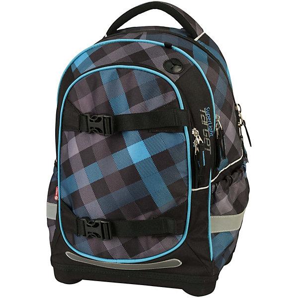 Рюкзак Target Collection BLUE, суперлегкийРюкзаки<br>Характеристики:<br><br>• тип товара: рюкзак<br>• материал: текстиль, металл, ЭКО-пена, пластик<br>• система Flexiball<br>• размер: 42х32х18 см<br>• объем: 24 л<br>• вес: 990 г<br>• 2 больших отделения, 2 боковых кармана<br>• застежка: молния<br>• ортопедическая спинка<br>• регулировка лямок<br>• мягкая верхняя ручка<br>• страна бренда: Словения<br> <br><br>Рюкзак сделан из легкого материала, который прошел проверку на безопасность для детей. Он имеет удобные лямки с вентиляционными отверстиями. Спинка также «дышит». В темное время суток ребенка видно благодаря светоотражающему материалу на передней, боковой и задней части изделия. Модель с прочным дном на пластиковых ножках, имеет ортопедическую спинку. Переднюю часть рюкзака можно снять и заменить на другую, предложенную в комплекте.