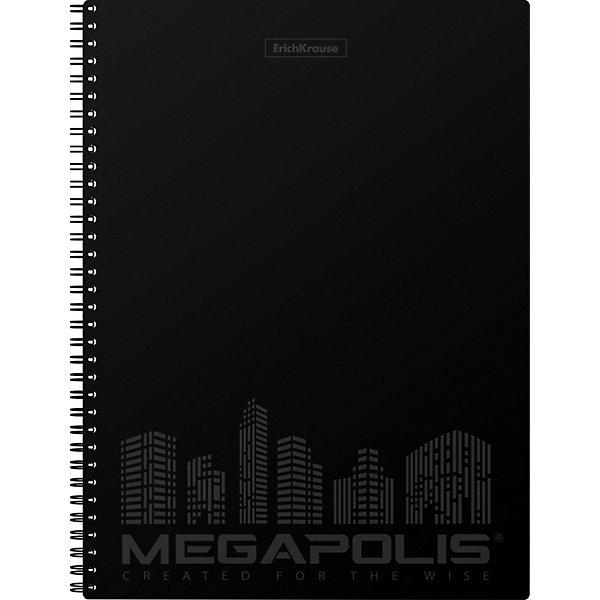 Erich Krause Тетрадь общая MEGAPOLIS, черный, А4, 80 листов, клетка