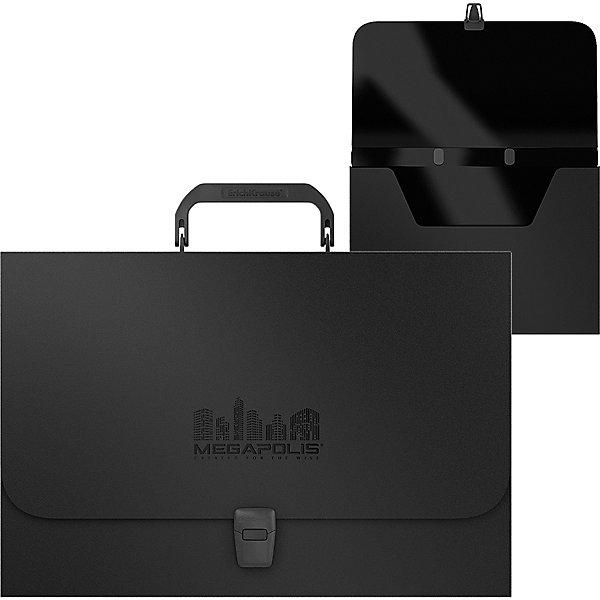 Портфель пластиковый Erich Krause MEGAPOLIS, FC, черный 11173938