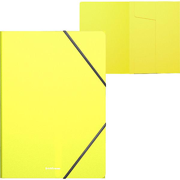 Erich Krause Папка на резинках пластиковая Neon, A4,