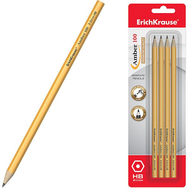 Erich Krause Чернографитный шестигранный карандаш Amber 100 HB