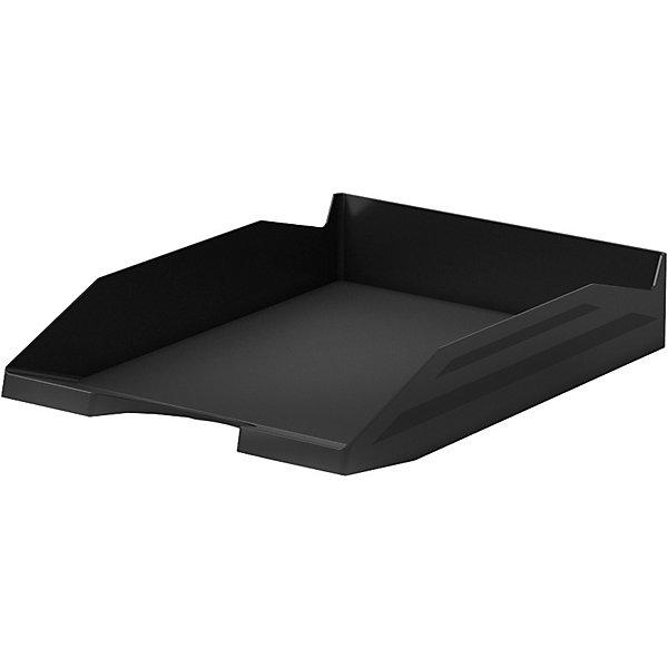 Лоток пластиковый для бумаг ErichKrause Office, черныйПодставки для книг и лотки<br>Характеристики:<br><br>• тип товара: лоток<br>• материал: пластик<br>• страна бренда: Россия<br> <br><br>Пластиковый лоток создан для хранения бумаг, документов, каталогов. Он вместительный и может удерживать большое количество листов. Лоток позволит сэкономить место на рабочем столе и сделать сортировку документов. Можно установить несколько лотков один сверху другого.