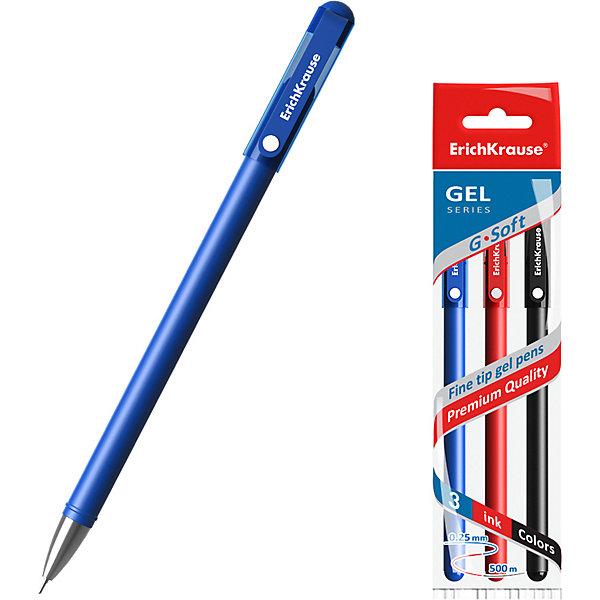 Erich Krause Ручка гелевая Erich Krause G-Soft, цвет чернил: синий, черный, красный