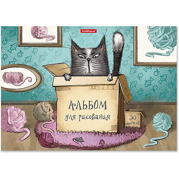 Erich Krause Альбом для рисования Cat & Box, А4, 30 листов