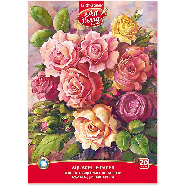 Erich Krause Альбом для рисования ArtBerry «Розы», А4, 20 листов
