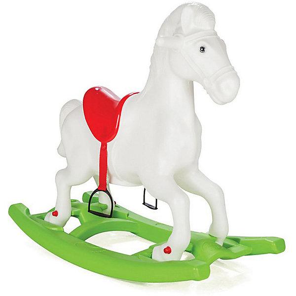 Купить Качалка Pilsan Windy Horse Лошадка , со стременами, белая, Турция, белый, Унисекс