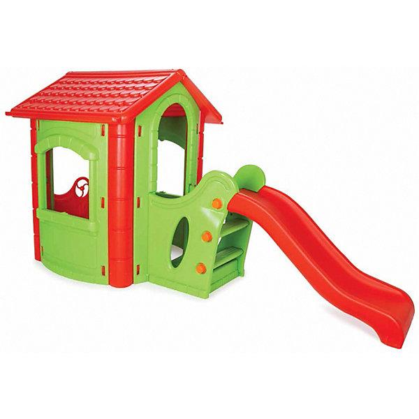 Pilsan Игровой домик Happy House Slide, зеленый/красный
