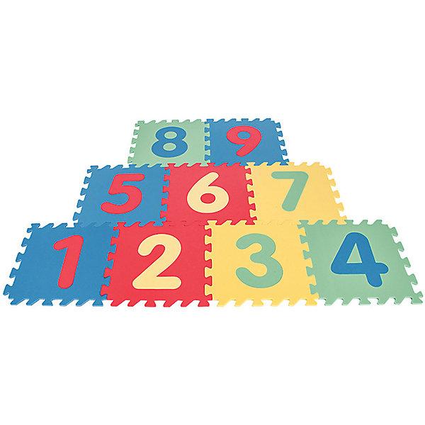 Игровой коврик 9-ти секционный с цифрами, 33х33х0,7 смРазвивающие коврики<br>Характеристики:<br><br>• в наборе: 9 секций коврика<br>• размер одной секции: 33х33х0,7 см<br>• страна бренда: Турция<br><br>Плитки выполнены из мягкого упругого материала. Каждая секция крепится к другой с помощью пазов. Из нескольких комплектов товара можно составить большую игровую площадку. Коврик отлично сохраняет тепло, не пропускает влагу и легко чистится. На цветных плитках есть цифры, что поможет в изучении счета. Изделие защищает деревянный пол от царапин и ударов во время игр малыша. Сделано из качественных безопасных материалов.