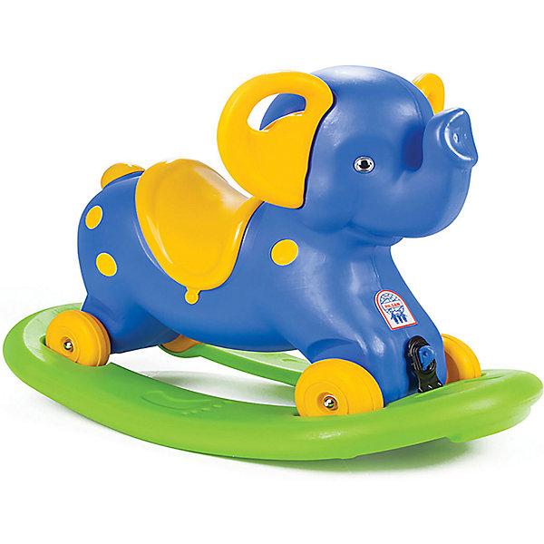 Качалка-каталка Pilsan Rocking Elephant Слоник, с блокировкой, синяяКаталки и качалки<br>Характеристики:<br><br>• материал: пластик<br>• в наборе: слоник, подставка<br>• максимальная нагрузка: 50 кг<br>• страна бренда: Турция<br><br>Если поставить и закрепить слоника на подставке, ребенок может использовать игрушку как качалку. Блокировка исключает возможность опрокидывания. При снятии с платформы игрушка едет на колесиках как каталка. Предусмотрены удобные ручки и эргономичное седло. Играя со слоником, малыш тренирует координацию движений и развивается физически.