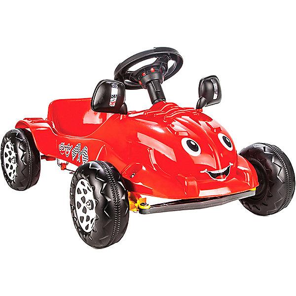 Педальная машина Pilsan Herby, красная