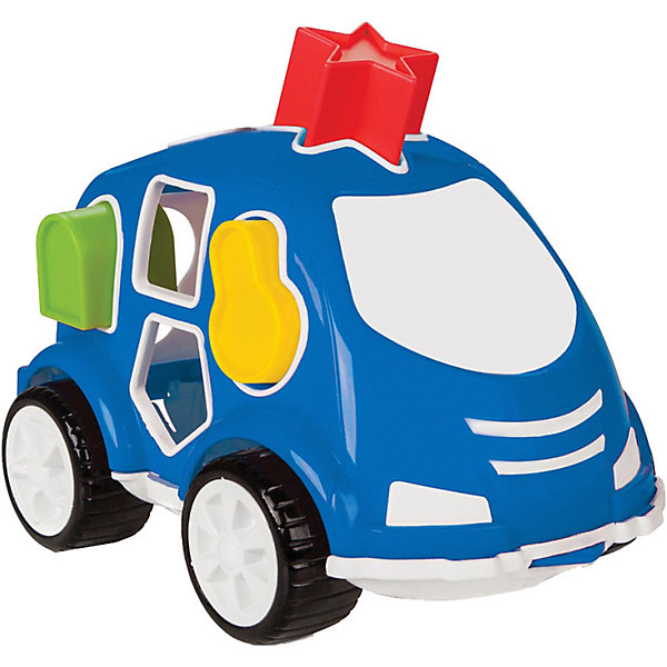 Pilsan Машинка с кубиками Pilsan Smart Shape Sorter Car, синяя