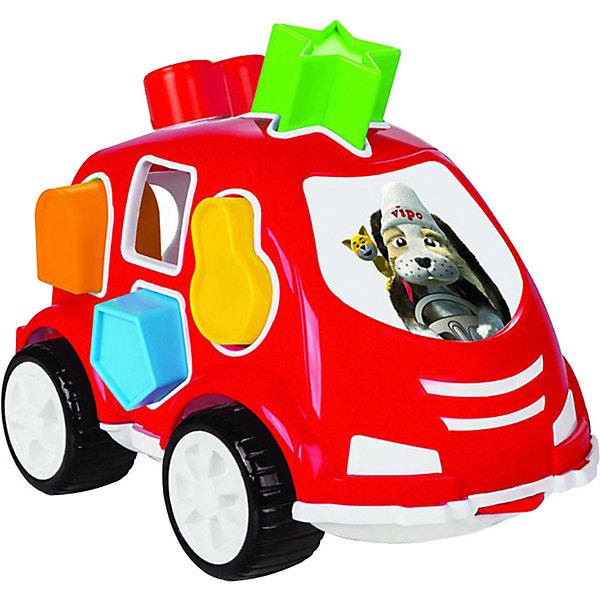 цена на Pilsan Машинка с кубиками Pilsan Smart Shape Sorter Car, красная