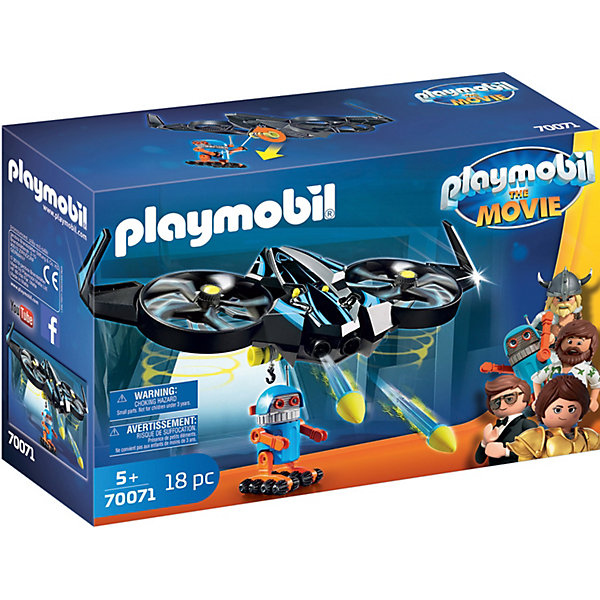 PLAYMOBIL® Конструктор Playmobil Роботирон с дроном, 18 элементов