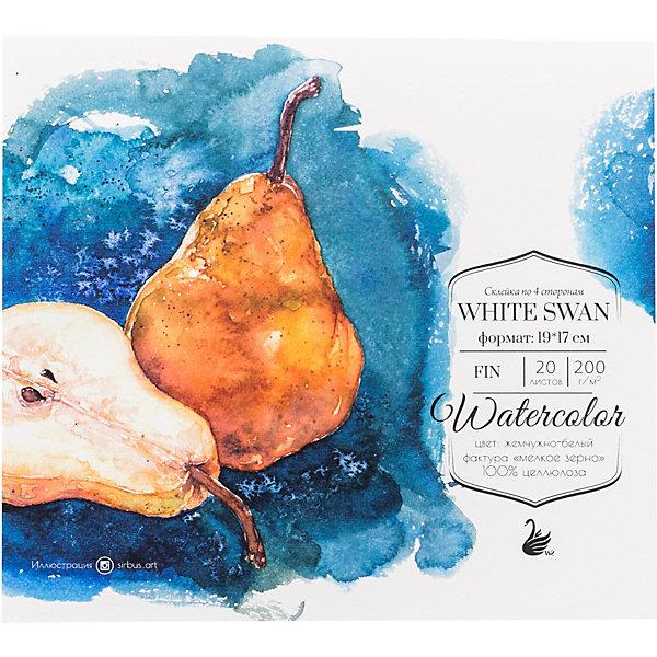 Купить Склейка для акварели Малевичъ White Swan, 200 г/м, 19х17 см, 20 листов, Китай, Унисекс