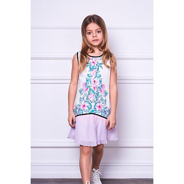 Choupette Платье Choupette платье прямое с цветочным рисунком и контрастной полосой сзади
