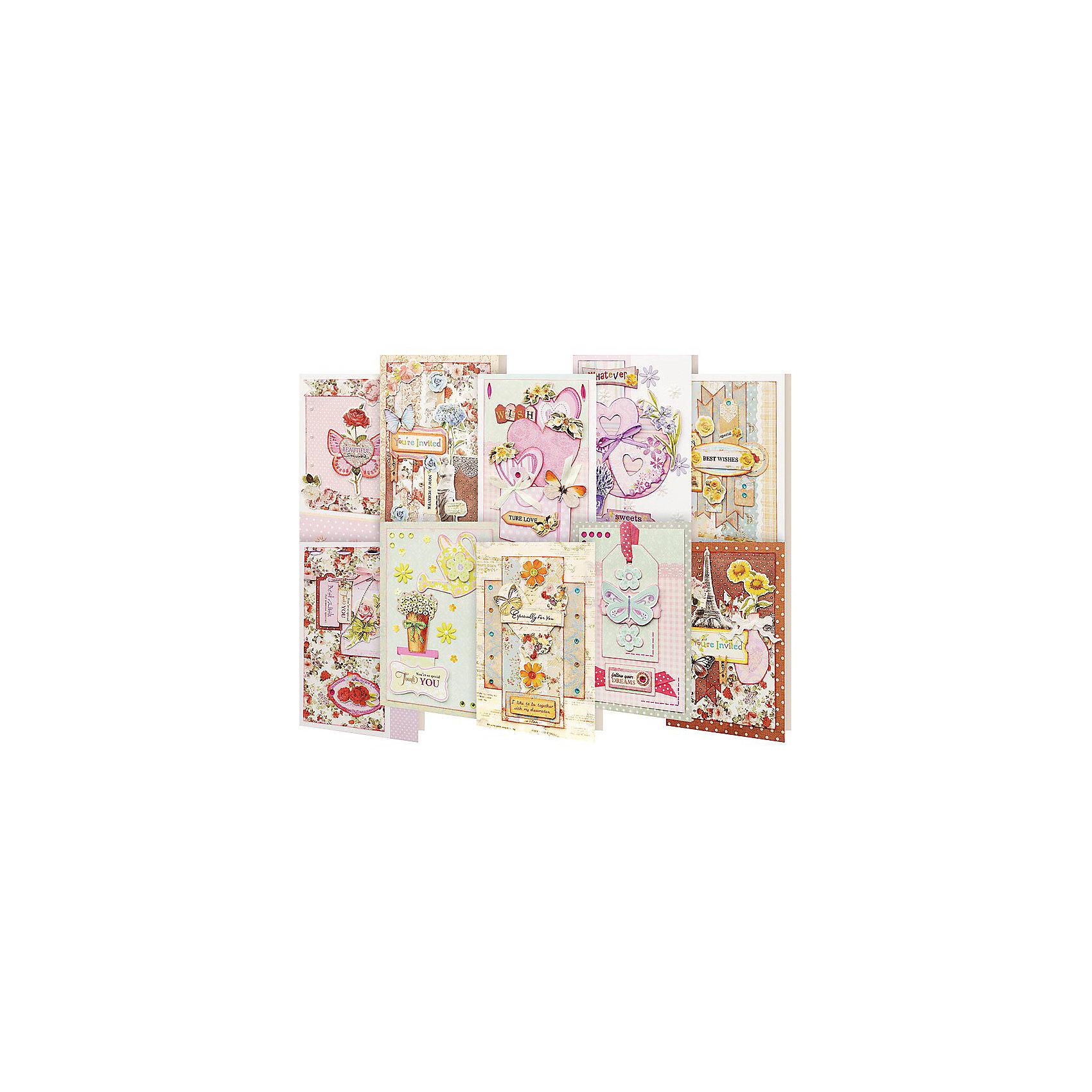 Набор для создания открыток белоснежка радужный, днем рождения