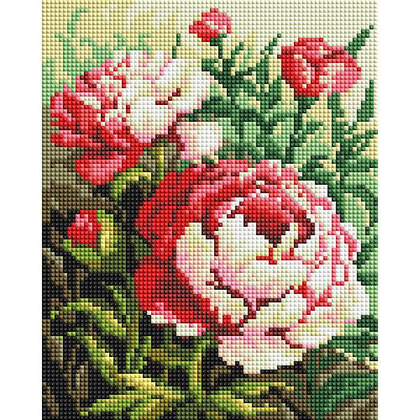 Белоснежка Мозаичная картина Цветущий куст, 20х25 см