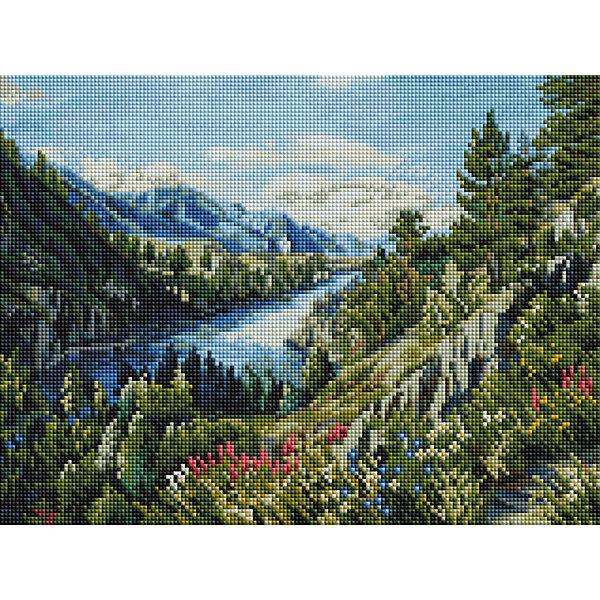 Белоснежка Алмазная мозаика Река Катунь, 30х40 см