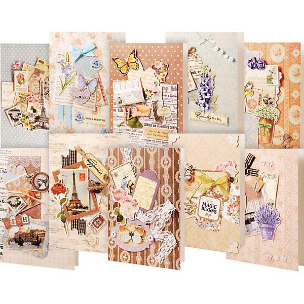 Белоснежка Набор для создания 10-ти открыток Белоснежка Винтаж набор открыток для посткроссинга darinchi издание 2 100 шт