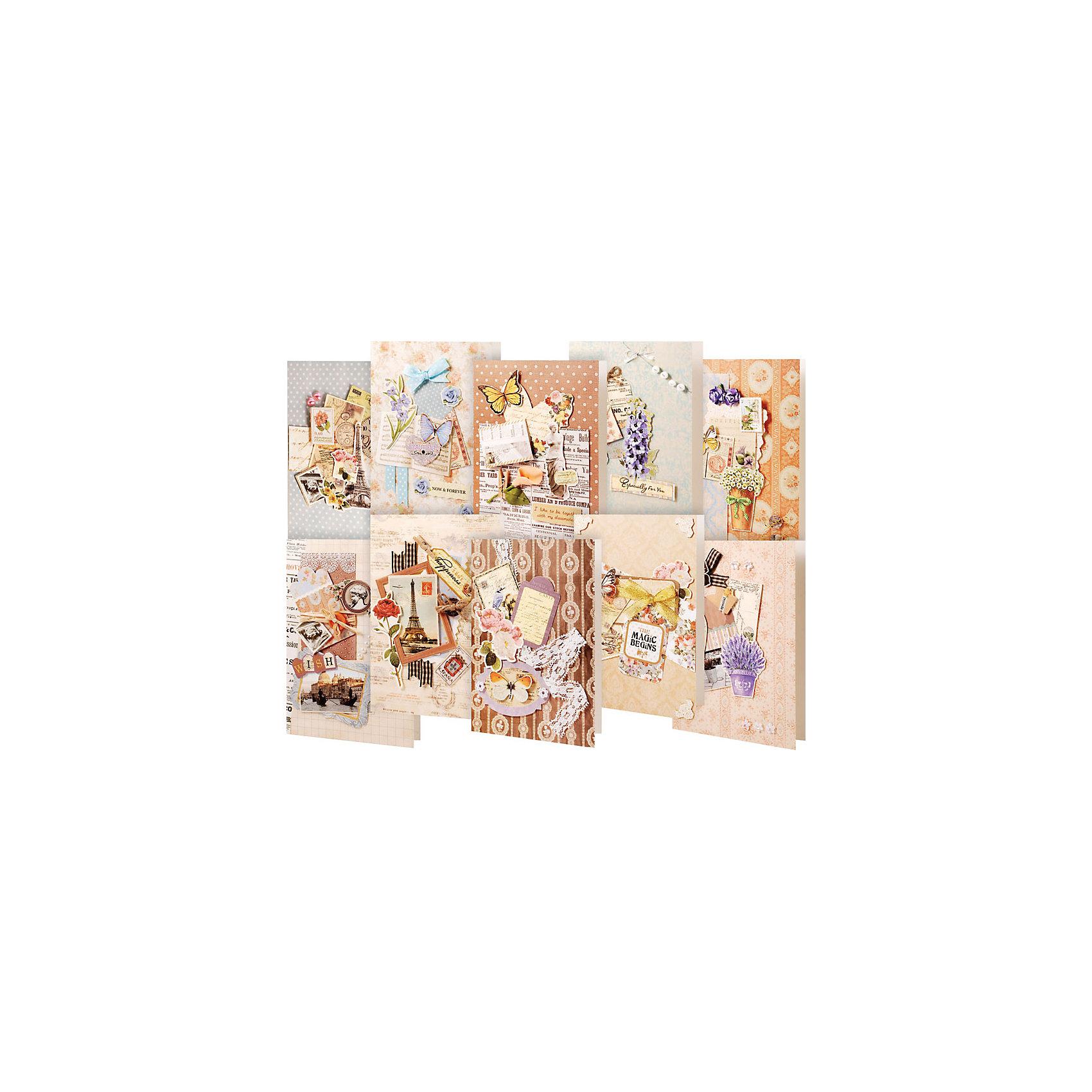 Набор для создания открыток белоснежка 10 шт, юбилеем