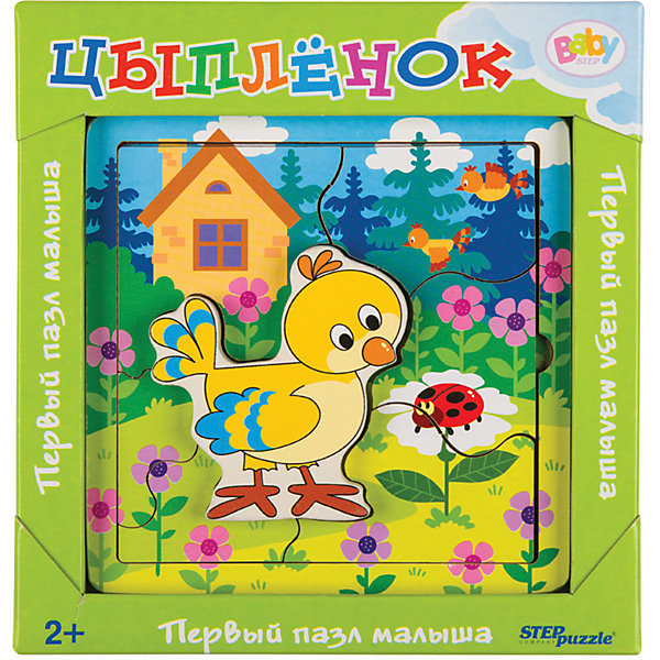 Купить Игра из дерева STEP puzzle Baby Step, Цыплёнок, Степ Пазл, Россия, Унисекс