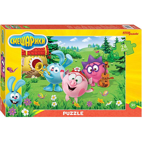 Купить Мозаика STEP puzzle maxi 24 Смешарики , Степ Пазл, Россия, Унисекс