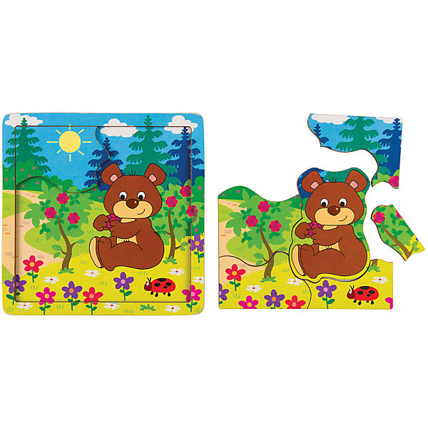Купить Игра из дерева STEP puzzle Baby Step, Медвежонок, Степ Пазл, Россия, Унисекс