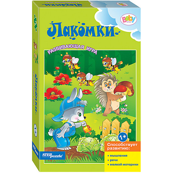 Степ Пазл Развивающая игра STEP puzzle Baby Step, Лакомки step puzzle пазл для малышей дикие животные 4 в 1