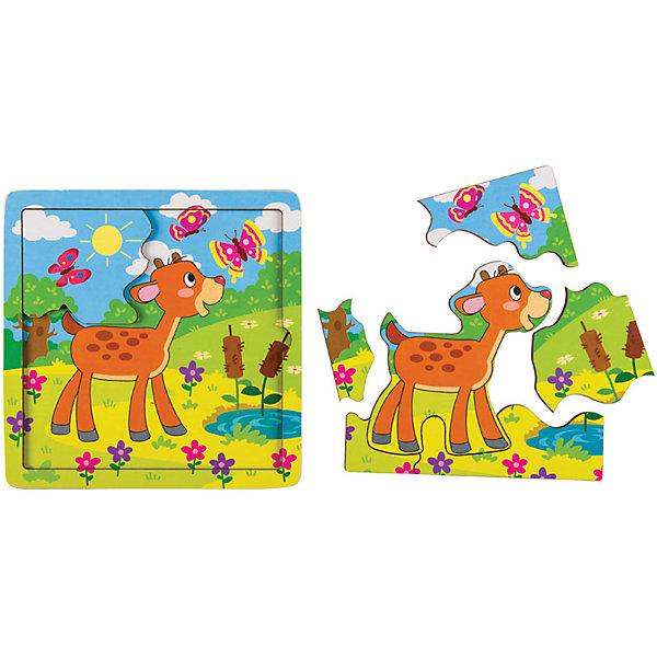 Купить Игра из дерева STEP puzzle Baby Step, Оленёнок, Степ Пазл, Россия, Унисекс
