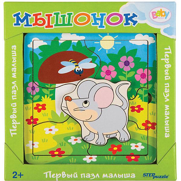 Купить Игра из дерева STEP puzzle Baby Step, Мышонок, Степ Пазл, Россия, Унисекс
