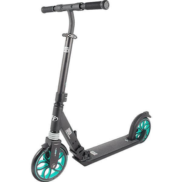 Двухколесный самокат Tech Team Sensei, голубойСамокаты<br>Характеристика:<br><br>• материал: алюминий, резина<br>• регулируемая высота рулевой стойки: 85–105 см<br>• длина деки: 50 см<br>• ширина деки: 12 см<br>• колёса из полиуретана<br>• размер колес: 200 мм<br>• подшипник: АВЕС-7 Chrome<br>• тип тормоза: ножной<br>• максимальная нагрузка: 100 кг<br>• страна бренда: Россия<br><br>Активные прогулки на городском самокате могут подарить много положительных впечатлений его обладателю. Транспортное средство для юных спортсменов продумано до мелочей. Дека покрыта нескользящей шкуркой, что дает хорошее сцепление и безопасное катание. Рулевую стойку можно регулировать по высоте, а благодаря прорезиненным ручкам с ограничителями, руки ребенка будут защищены от соскальзывания во время езды и от травм при возможном падении. Быстрое торможение обеспечивается с помощью ножного тормоза, расположенного на заднем колесе. Подшипники обеспечивают плавный и бесшумный ход. Благодаря весу, который выдерживает транспортное средство, на нем могут кататься не только дети, но и их родители. Отличительной особенностью является инновационная система складывания не только самой модели, но и ее ручек. Прогулки на самокате способствуют не только физическому развитию, но также тренируют внимание, выносливость и сноровку.