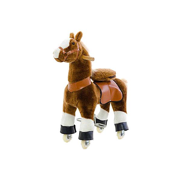 Поницикл Hubster Белое копытце, гнедая, малыйИгрушки каталки<br>Характеристика:<br><br>• расстояние от седла до педалей: 35 см<br>• высота в холке: 72 см<br>• высота посадки: 50 см<br>• максимальная нагрузка: 30 кг<br>• страна бренда: Китай<br><br>Поницикл может стать не только оригинальной, но и приносящей пользу игрушкой, которая будет способствовать физическому развитию ребенка.  Для того, чтобы лошадка начала двигаться ребенок должен упираться ногами в стремена, привставать и садится на седло. В это время копыта скакуна начинают передвигаться. Процесс имитирует езду на настоящей лошади. Управлять направлением движения поницикла совсем несложно. Это делается с помощью ручек, которые установлены на игрушке. Благодаря тому, что игрушку-тренажер приводит в действие юный наездник, лошадка может использоваться не только для игр, но и как средство для развития координации движений. Также лошадка будет способствовать формированию правильной осанки.