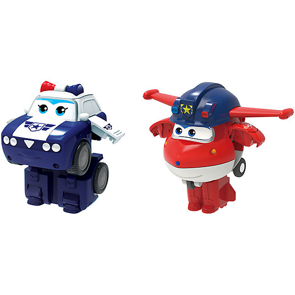 """Gulliver Игровой набор мини-трансформеры Gulliver Super wings """"Команда Полиции"""", Джетт Пол"""