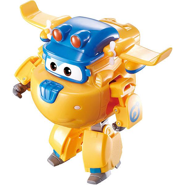 Трансформер Gulliver Super wings Команда Строителей, ДонниТрансформеры-игрушки<br>Характеристики:<br><br>• материал: пластик<br>• страна бренда: Россия<br><br>Трансформер в виде персонажа популярного мультфильма может подарить много положительных впечатлений его обладателю. Игрушка сделана из качественных материалов, не вызывающих аллергию, и покрыта стойкими нетоксичными красками, поэтому она устойчива к механическим повреждениям. Благодаря тому, что дизайн трансформера-самолетика детально проработан, он очень похож на одноименного персонажа. Отличительной особенностью игрушки является то, что ее шасси трансформируются в ноги, а боковые двери превращаются в руки. Игра с трансформером может способствовать развитию не только воображения, но и мелкой моторики рук.