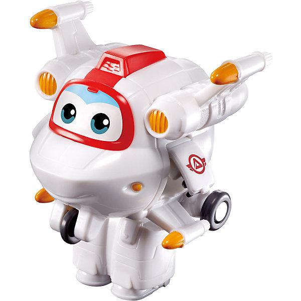 Мини-трансформер Gulliver Super wings Космическая Команда, АстроТрансформеры-игрушки<br>Характеристики:<br><br>• материал: пластик<br>• размер: 4,2х5,1х5,6 см <br>• страна бренда: Россия<br><br>Мини-трансформер в виде персонажа популярного мультфильма может подарить много положительных впечатлений его обладателю. Игрушка сделана из качественных материалов, не вызывающих аллергию, и покрыта стойкими нетоксичными красками, поэтому она устойчива к механическим повреждениям. Благодаря тому, что дизайн трансформера-полицейского детально проработан, он очень похож на одноименного персонажа. Отличительной особенностью игрушки является то, что боковые двери превращаются в ручки, а из нижней части корпуса выдвигаются ножки. Игра с мини-трансформером может способствовать развитию не только воображения, но и мелкой моторики рук.