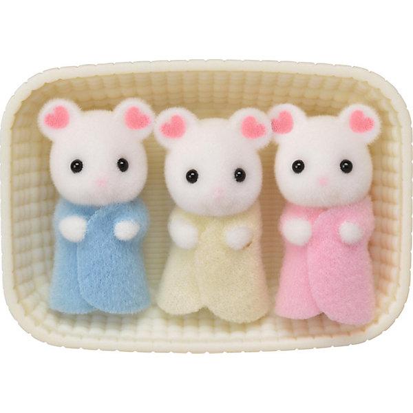 Купить Набор Sylvanian Families Тройняшки Зефирные мышата , Эпоха Чудес, Китай, бежевый, Женский