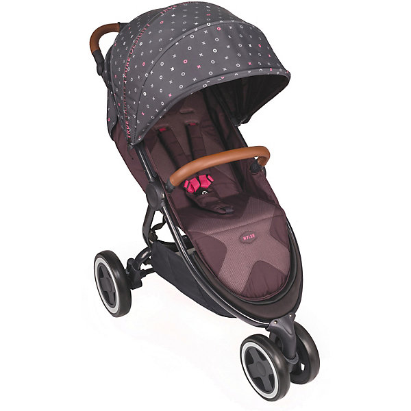 Коляска прогулочная Happy Baby Wylsa, бордоваяПрогулочные коляски<br>Характеристики товара:<br><br>• материал: пластик, металл, текстиль, экокожа<br>• максимальный вес ребенка: 15 кг<br>• регулируемый наклон спинки: до 175 градусов<br>• регулируемая в 3 положениях подножка<br>• 5-ти точечные ремни безопасности<br>• бампер из экокожи с разделителем<br>• регулируемый капюшон<br>• сдвоенное переднее колесо с амортизатором<br>• педаль тормоза на задних колесах<br>• тип складывания: книжка<br>• в комплекте: коляска, москитная сетка, дождевик, чехол на ножки<br>• диаметр переднего колеса: 19,5 см<br>• диаметр задних колес: 25 см<br>• материал колес: полиуретан<br>• ширина сиденья: 34 см<br>• глубина сиденья: 22 см<br>• длина спального места: 90 см<br>• ширина колесной базы: 58 см<br>• размер коляски в разложенном виде: 108х57,5х104 см<br>• размер коляски в сложенном виде: 77х57,5х32 см<br>• вес коляски: 9,1 кг<br><br>Трехколесная коляска с комфортным спальным местом. Спинка регулируется до положения в 175 градусов для сна. Капюшон опускается до бампера, закрывая от осадков и солнца. Бампер обтянут экокожей, а дополнительный разделитель не дает ребенку сползать вниз по сиденью. Доступ к корзине не затруднен даже при опущенной спинке. <br><br>На переднем колесе есть амортизатор, позволяющий смягчить тряску во время катания. Переднее поворотное колесо придает коляске маневренности и легкости в управлении. Колеса выполнены из прочного износостойкого полиуретана.