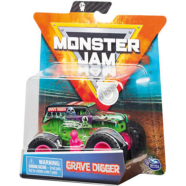 Spin Master Мини-машинка Spin Master Monster Jam Grave Digger spin master швейная машинка sew cool