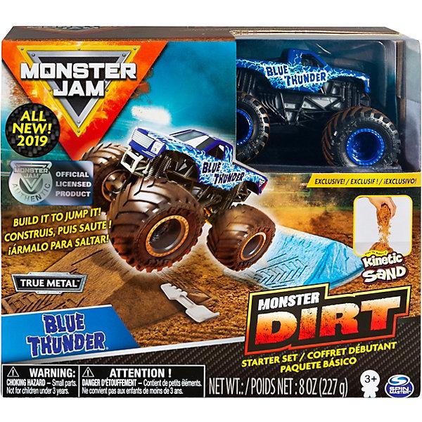 Набор Spin Master Monster Jam Blue Thunder, с машинкой и кинетическим песком фото