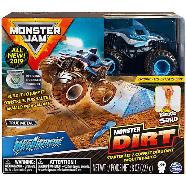 Набор Spin Master Monster Jam Megladon, с машинкой и кинетическим песком, Разноцветный