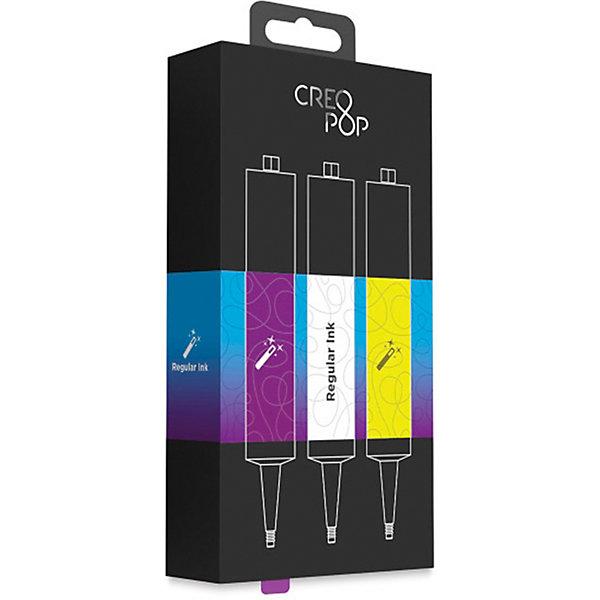 CreoPop Набор картриджей CreoPop, фиолетовый, белый, желтый