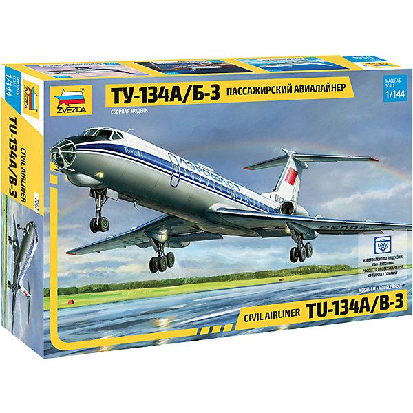 Звезда Сборная модель Zvezda Пассажирский авиалайнер Ту-134А/Б-3