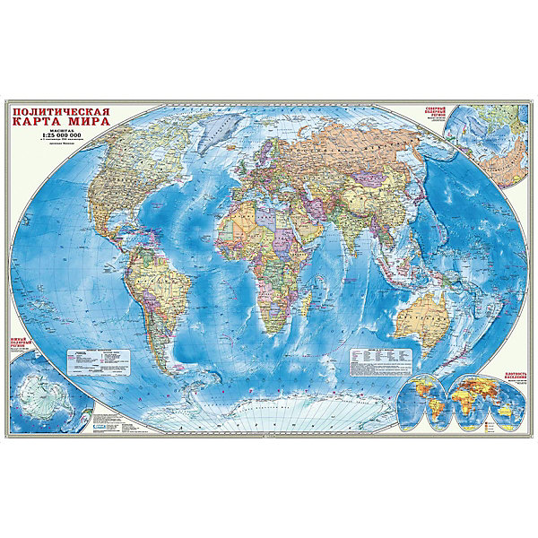 ГеоДом Карта настенная Геодом «Мир Политический»