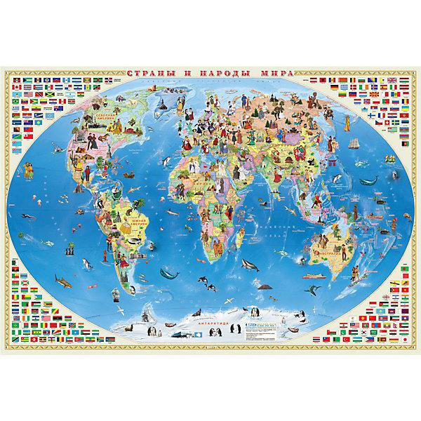 ГеоДом Карта Мира настенная Геодом «Страны и народы мира» геодом карта мира настольная для малышей вокруг света со смешариками 58х38 см лам геодом